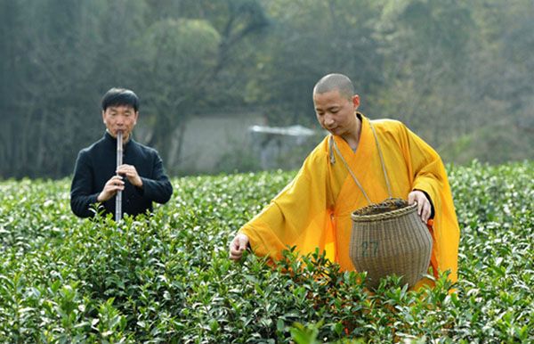 tea in Buddhist monasteries