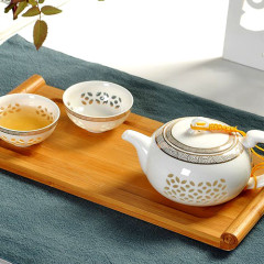 Tea Set with Gold Ornament