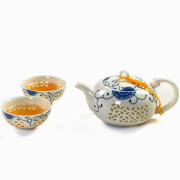 Tea Set with Blue Flowers
