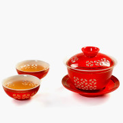 Red Chinese Kung Fu Tea Set