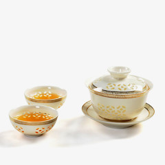 White Chinese Kung Fu Tea Set