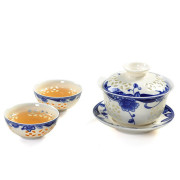 Blue Flowers Kung Fu Tea Set