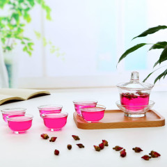 Transparent Glass Tea Set with Gaiwan
