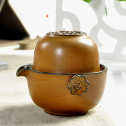 Brown Kung Fu Tea Set